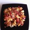 Cómo preparar pollo con pimientos y queso gorgonzola