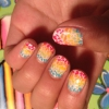 Cómo Rainbow Leopard Print Nail Art