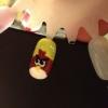 Cómo rojas Angry Bird Nails
