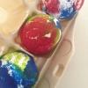Cómo teñido anudado Huevos de Pascua