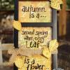 Cómo utilizar TCW plantillas para crear un otoño Decoración pieza