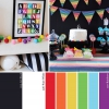 Hue It Yourself: Negro + blanco + arco iris por todas partes