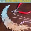 Cuero-pluma metálica Collar llamativo