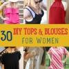Haga sus propias tapas ya las blusas con 30 Ropa ideas de bricolaje