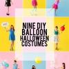 Nueve Disfraces de Halloween bricolaje con globos