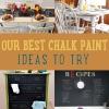 Nuestros pintura Ideas Mejor tiza para que usted intente en casa