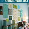 Ideas Quick & Easy Tela arte de la pared Decoración