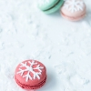 Copo de nieve estarcido Macarons