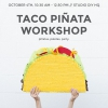 Taco Piñata Taller para el Día Nacional del Taco en la sede de bricolaje Studio!