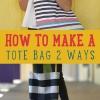 Dos grandes tutoriales sobre cómo hacer una bolsa de asas!