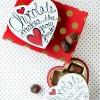 Día de San Valentín Caja de Chocolates Makeover (Gratis Imprimibles!)
