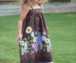 Adorable DIY verano Sundress Niño