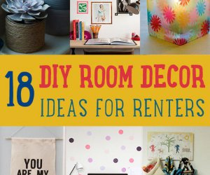 18 habitaciones DIY Decoración Ideas para Crafters (que también son inquilinos)