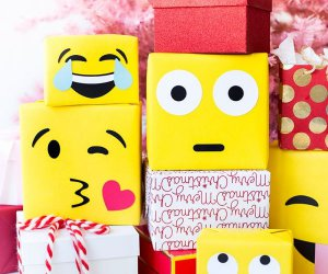 DIY Emoji papel de regalo