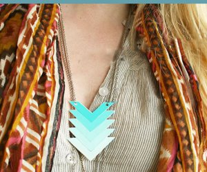 Joyas DIY Ombre Paint chip Chevron Collar