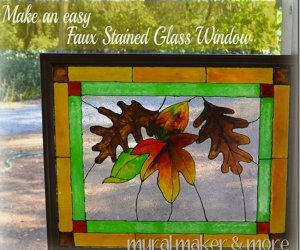 ¡Genio! DIY Faux Stained Glass