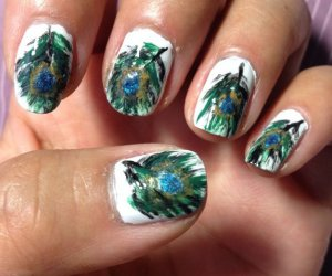 Cómo crear Peacock Nails
