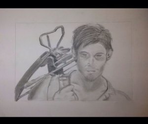 Cómo dibujar Daryl Dixon De The Walking Dead
