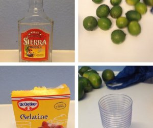 Cómo hacer 20 Tequila Lime Jelly Shots